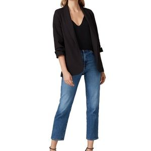 Shirred Sleeve Blazer